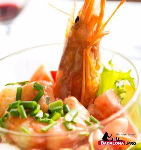 Cockteil de Langostinos  - restaurante Via Baetulo - Badalona