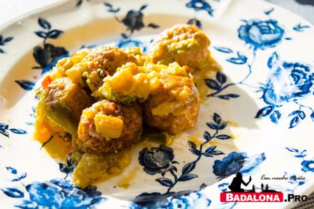 Albóndigas con verduras - restaurante Via Baetulo - Badalona