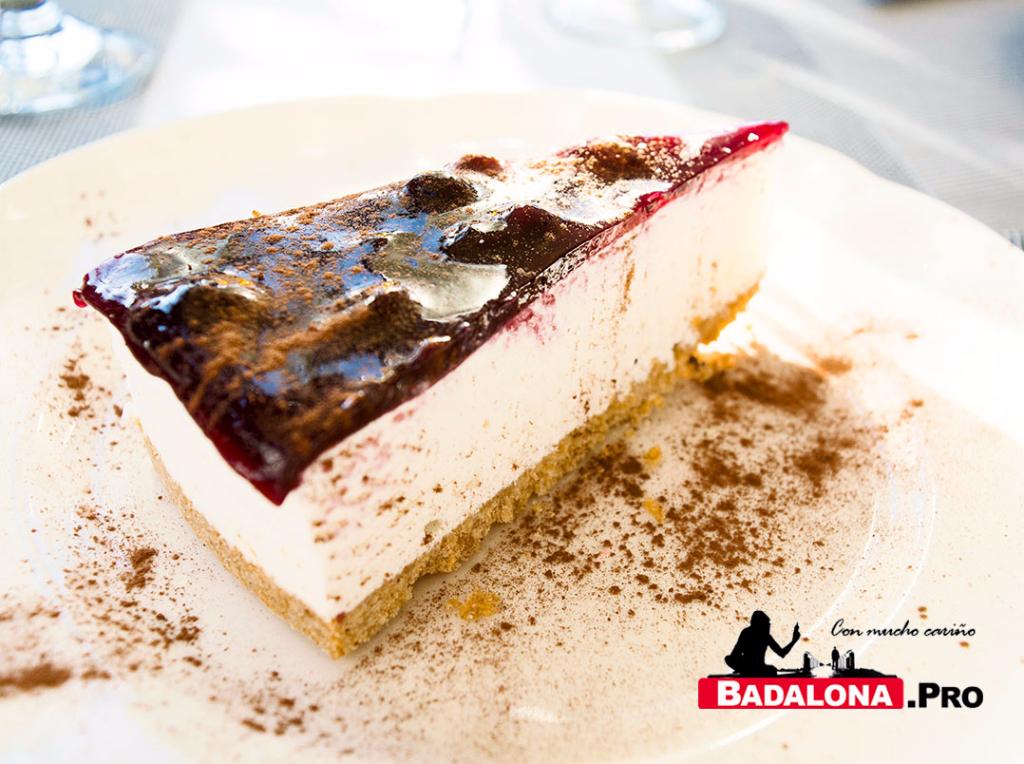 Tarta de queso - restaurante Via Baetulo - Badalona