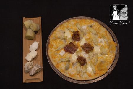 Pizza alcachofas gorgonzola y mascarpone  - Pizzería Rosa